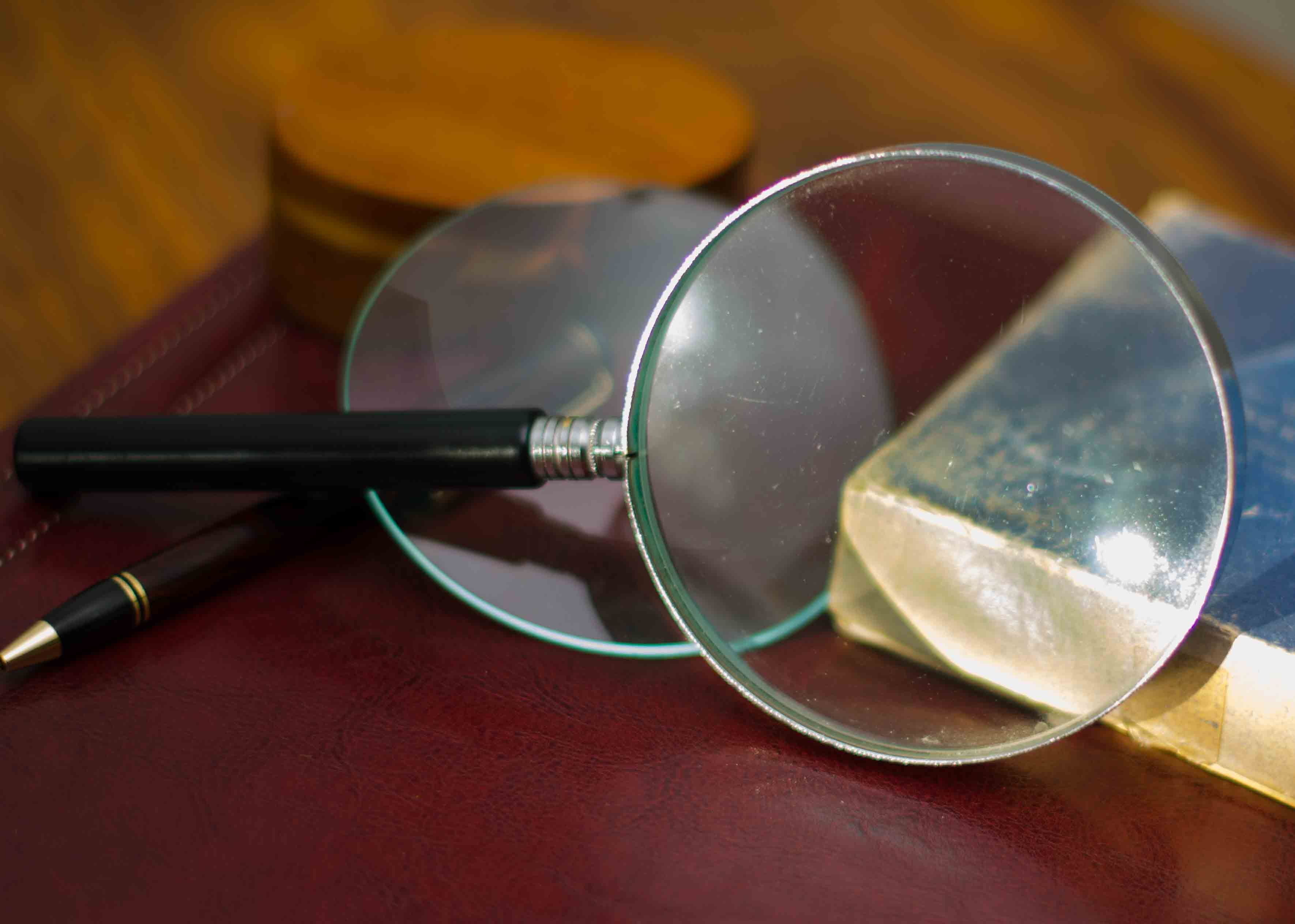 An image of a magnifying glass.